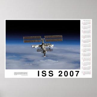 ISS 2007 Calendar Print