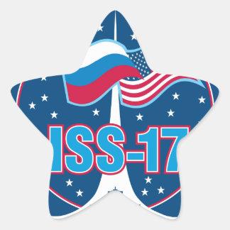 ISS Crews Expedition 17 Star Sticker