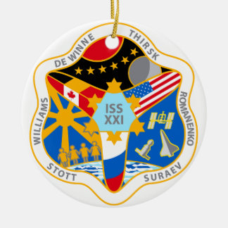 ISS Crews:  Expedition 21 Ceramic Ornament