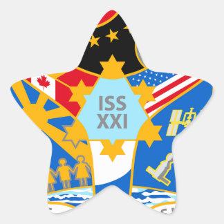 ISS Crews Expedition 21 Star Sticker
