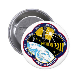 ISS Crews:  Expedition 22 Pinback Button