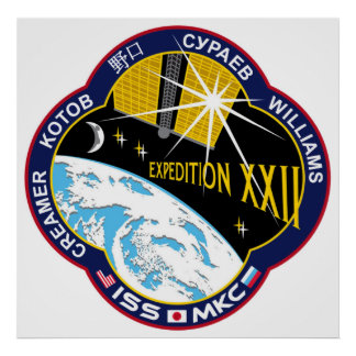 ISS Crews:  Expedition 22 Print
