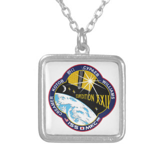 ISS Crews:  Expedition 22 Silver Plated Necklace