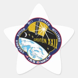 ISS Crews Expedition 22 Star Sticker