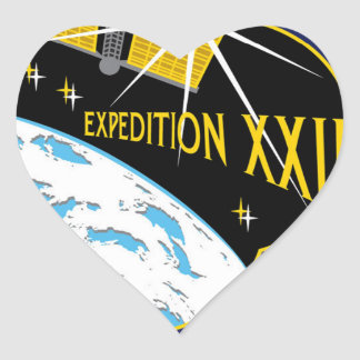 ISS Crews:  Expedition 22 Heart Sticker