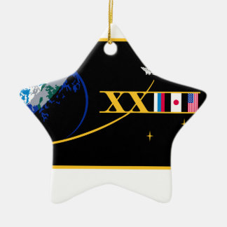 ISS Crews:  Expedition 23 Double-Sided Star Ceramic Christmas Ornament