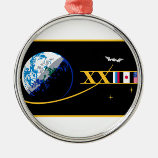 ISS Crews:  Expedition 23 Round Metal Christmas Ornament