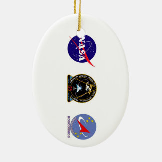 ISS Crews:  Expedition 25 Ceramic Ornament