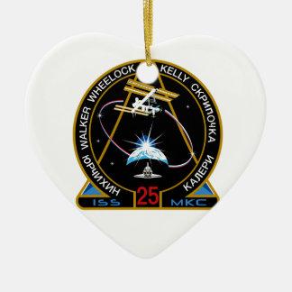 ISS Crews:  Expedition 25 Ceramic Ornament