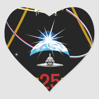 ISS Crews:  Expedition 25 Heart Stickers
