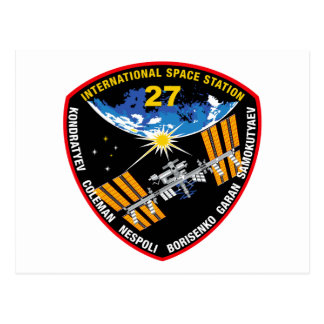 ISS Crews:  Expedition 27 Postcard