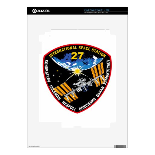 ISS Crews:  Expedition 27 Skin For iPad 2