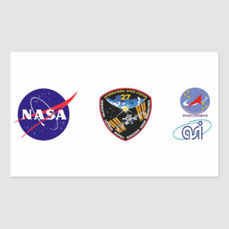 ISS Crews:  Expedition 27 Rectangular Stickers