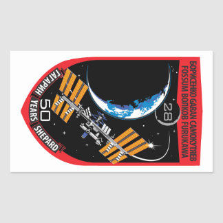 ISS Crews:  Expedition 28 Rectangular Stickers