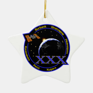 ISS Crews:  Expedition 30 Double-Sided Star Ceramic Christmas Ornament