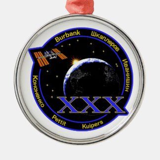 ISS Crews:  Expedition 30 Round Metal Christmas Ornament