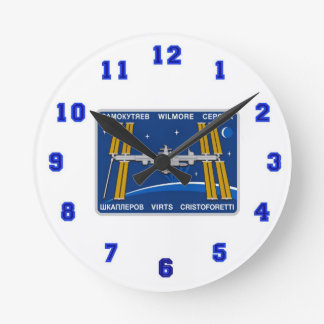 ISS Crews:  Expedition 42 Round Wall Clock