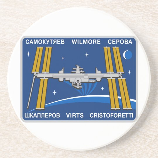 ISS Crews:  Expedition 42 Drink Coaster