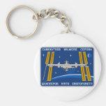 ISS Crews:  Expedition 42 Basic Round Button Keychain