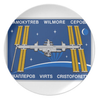 ISS Crews:  Expedition 42 Melamine Plate