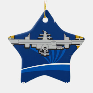 ISS Crews:  Expedition 42 Double-Sided Star Ceramic Christmas Ornament