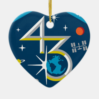 ISS Crews:  Expedition 43 Ceramic Ornament