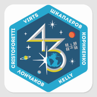 ISS Crews:  Expedition 43 Square Sticker