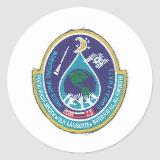 ISS INTERNATIONAL SPACE STATION ROUND STICKERS