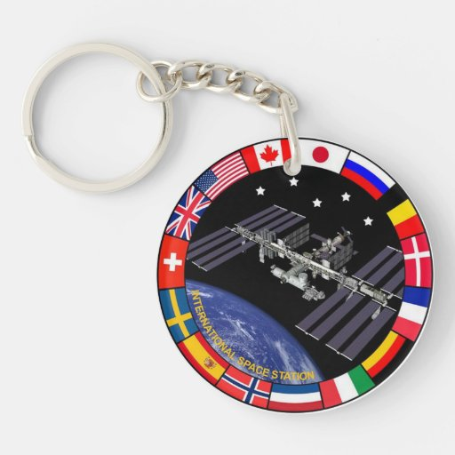 ISS Members Composite Logo Acrylic Key Chain
