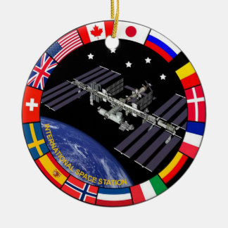 ISS Members Composite Logo Ceramic Ornament