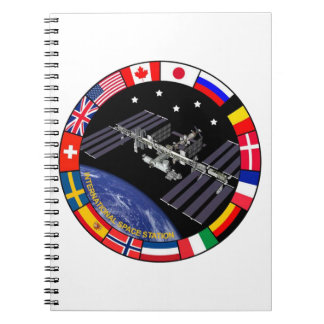 ISS Members Composite Logo Spiral Notebooks