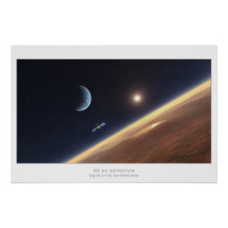 ISS on adventure Poster