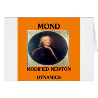 issac newton modified newtonian dynamics greeting card