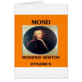 issac newton modified newtonian dynamics card