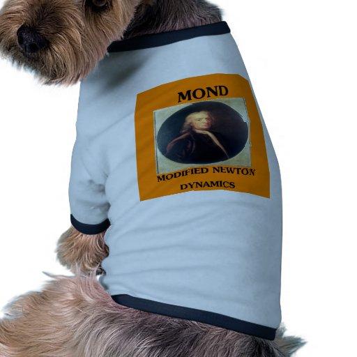 issac newton: modified newtonian dynamics dog tshirt