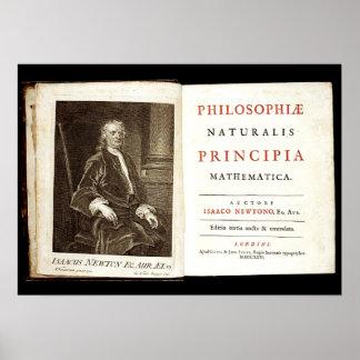 Issac Newton Principia book Poster