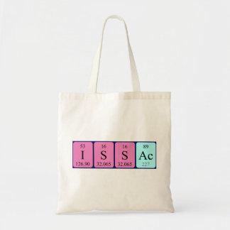 Issac periodic table name tote bag