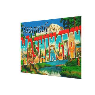 Issaquah, Washington - Large Letter Scenes Canvas Print