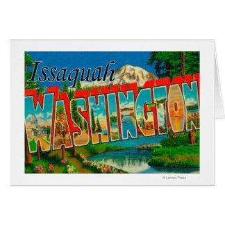 Issaquah, Washington - Large Letter Scenes Card