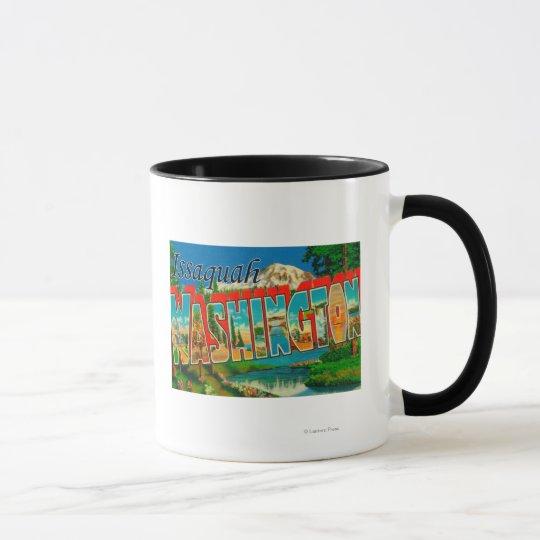 Issaquah, Washington - Large Letter Scenes Mug