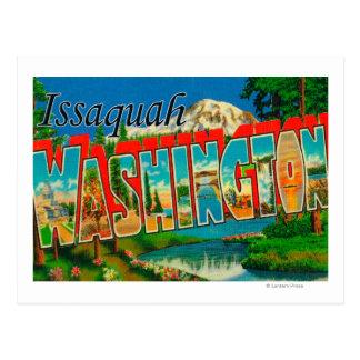 Issaquah, Washington - Large Letter Scenes Postcard