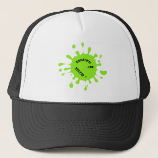 Issues are stupid! green color splashes trucker hat