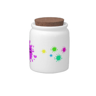 Issues are stupid! purple color splashes candy jars