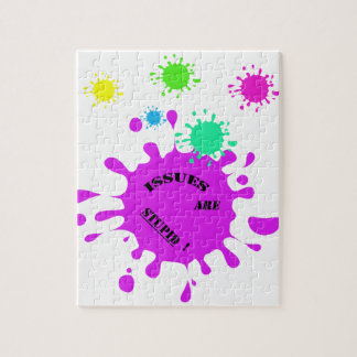 Issues are stupid! purple color splashes jigsaw puzzles