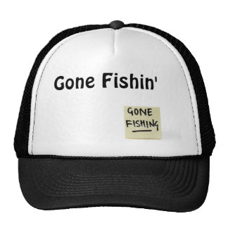 ist2_1227338_stationary_sticky_note_reads_gone_... trucker hat