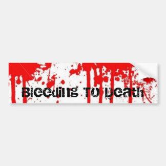 ist2_1316538_blood_splatter_background Bleedin… Etiqueta De Parachoque