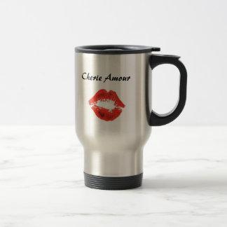 ist2_2777114-kiss-lips, amorío de Cherie Taza De Café