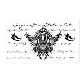 ist2_8248208-rock-and-star, estrella-negro, tarjetas de visita