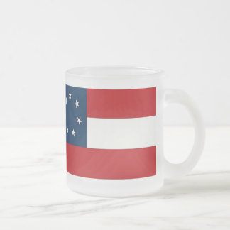 Ist NATIONAL FLAG Frosted 10 oz  Glass Mug Frosted Glass Coffee Mug