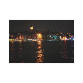 Istanbul ate night canvas print